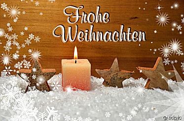 Merry Christmas in German language