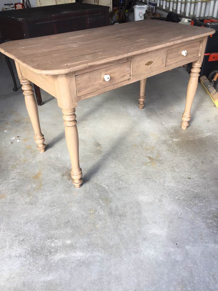 Before rustic table