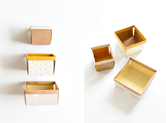 pudełka z papieru