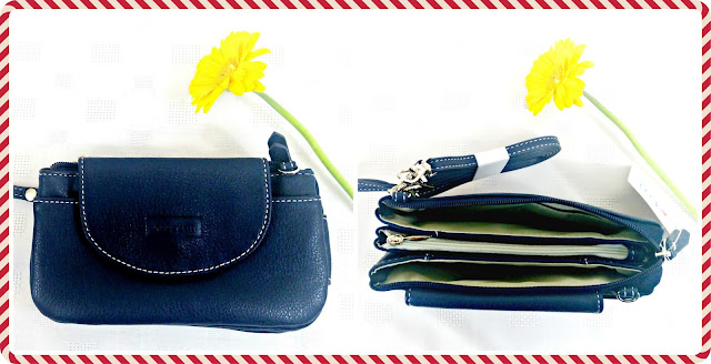 Collage featuring the Molly Purse Bag from Mia Tui in Navy