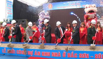 Lễ khởi công dự án khu nhà ở Bắc Sơn Sông Hồng