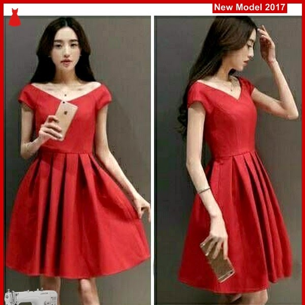 MSF0198 Model Dress Red Murah Nana Modis BMG