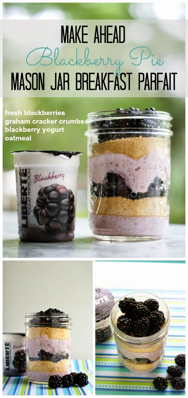 Blackberry Pie Breakfast Parfait | thetwobiteclub.com | #yogurtperfection #makeahead #healthy #ad
