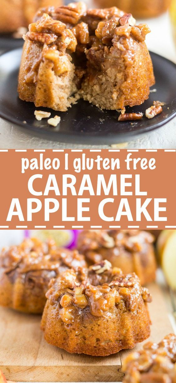 Paleo Caramel Apple Cake
