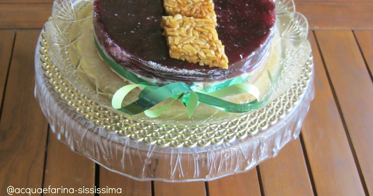 acqua e farinasississima cheesecake ricotta e amarene