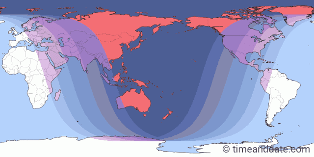 Wilayah Terbaik Untuk Mengamati Gerhana Bulan Total