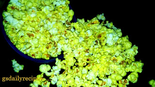 masala popcorn recipe - indian masala popcorn recipe - how to make masala popcorn