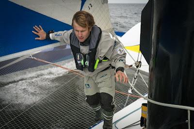 """François Gabart au départ de The Transat : """"Ce n'est pas anodin de traverser l'Atlantique sur un tel bateau"""""""