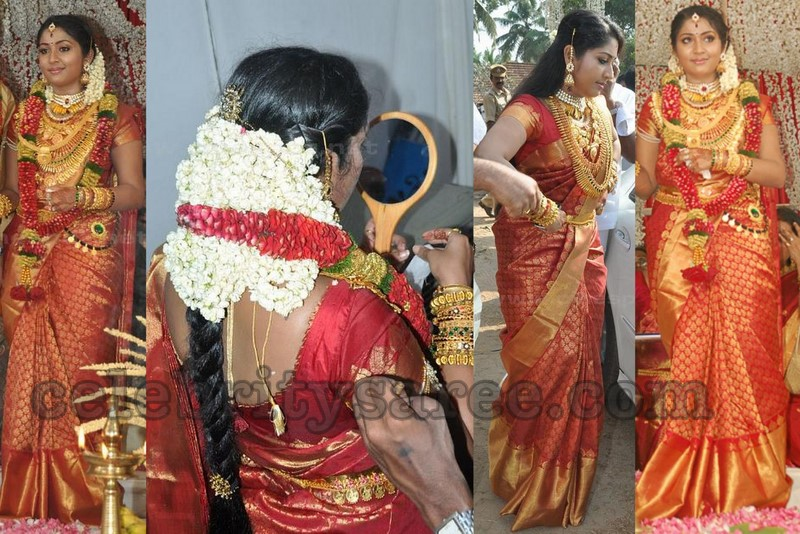 Navya Nair S Bridal Traditional Sarees