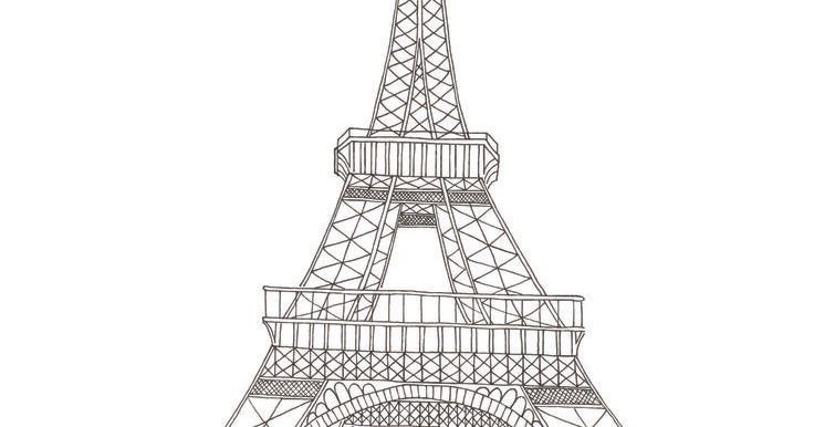 dessins et coloriages page de coloriage grand format imprimer la tour eiffel avec quelques. Black Bedroom Furniture Sets. Home Design Ideas