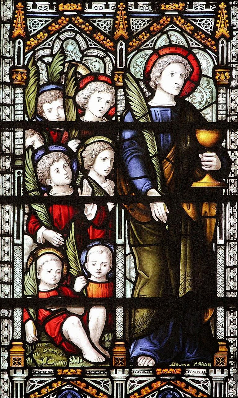 Os Santos inocentes junto com São João Evangelista. Igreja de San Tiago, Plaza de España