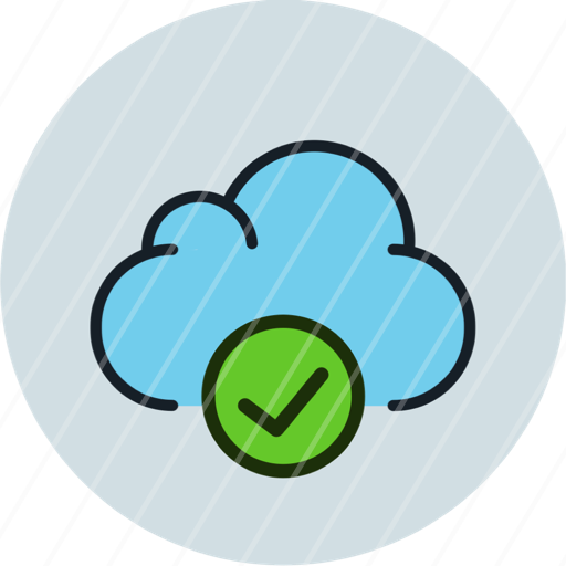 aprove check cloud data storage icon