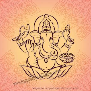 happy diwali ganesha image