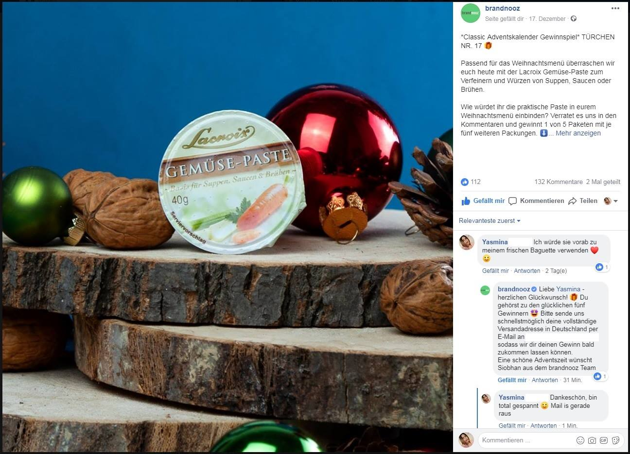 Gewinn Weihnachtskalender.Rosa Wölkchen Brandnooz Adventskalender Gewinn Für Suppen