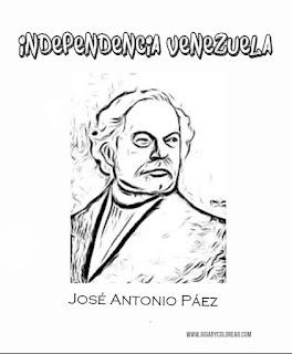 colorear Jocolorear José Antonio Páez
