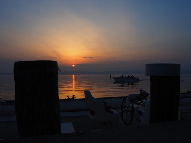 Sirmione, Lago di Garda, západ slunce