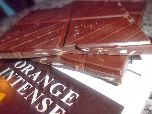 chocolate lindt orange intense