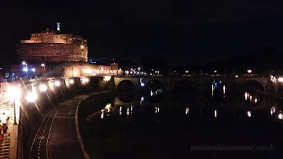 castel santangelo roma noite portugues - Castel Sant'Angelo de noite