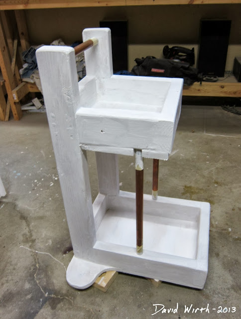 wood white primer paint, utility cart, diy, how to build