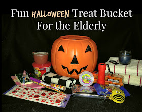 Halloween gift basket, elderly Halloween treats