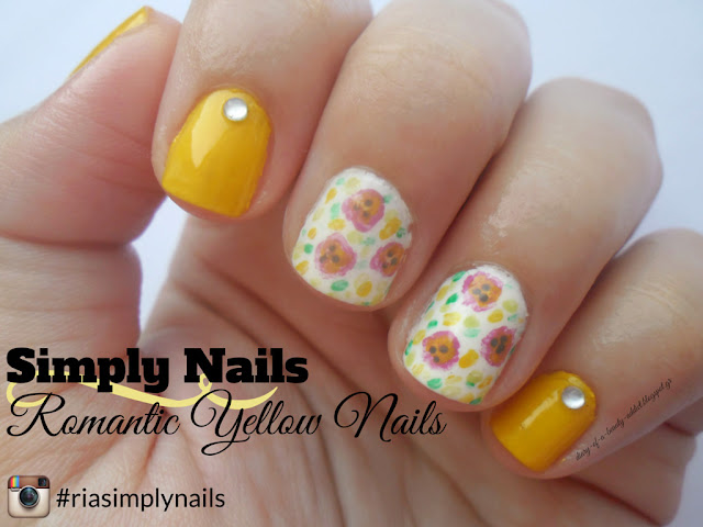 Romantic Yellow Nails ▎Simply Nails