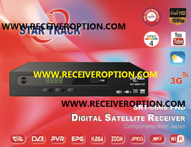 STAR TRACK SRT-6666 FHD RECEIVER AUTO ROLL POWERVU KEY NEW SOFTWARE