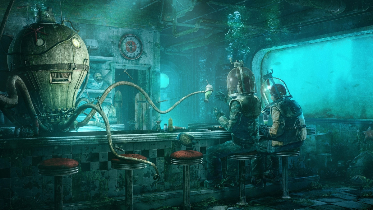 10-Sea-bar-Underwater-fantasy-Quentin-Fantasy-Digital-Illustrations-with-a-bit-of-Surrealism-www-designstack-co