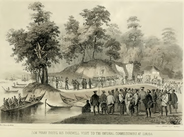 Commodore Perry and Japanese Commissioners Farewell Meeting