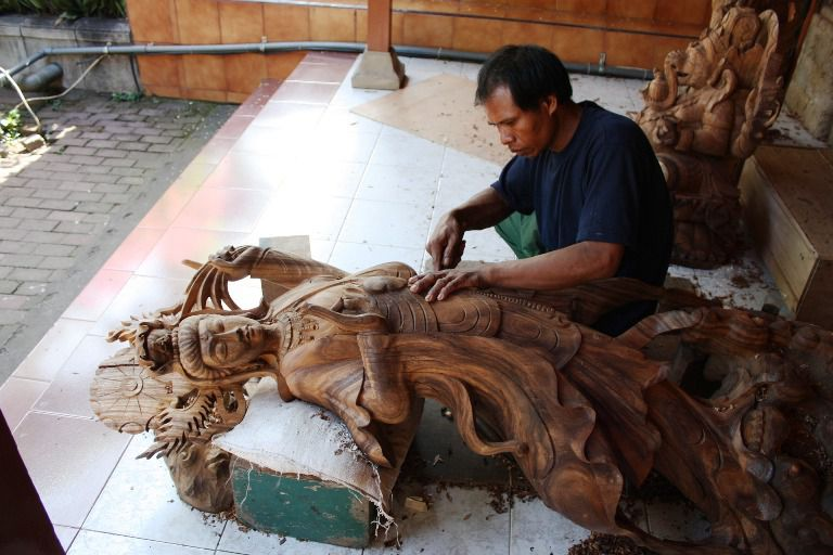 Wood Carving - Mas, Gianyar, Bali, Holidays, Excursions, Attractions