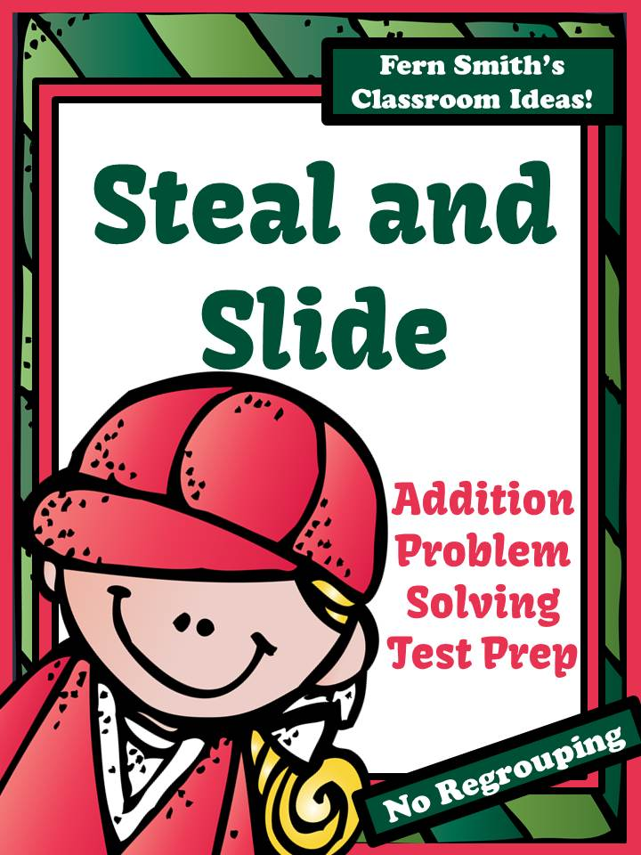 Test Prep Baseball's Steal and Slide Method - Addition No Regrouping by Fern Smith's Classroom Ideas!