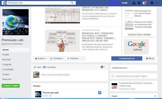 Promovare - afacere - pe - Facebook. Creare - pagina- firma - facebook - link - dofollow - pr