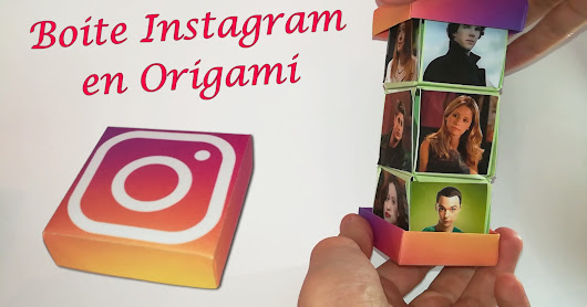 Boite à photo Instagram en Papier Origami !!!