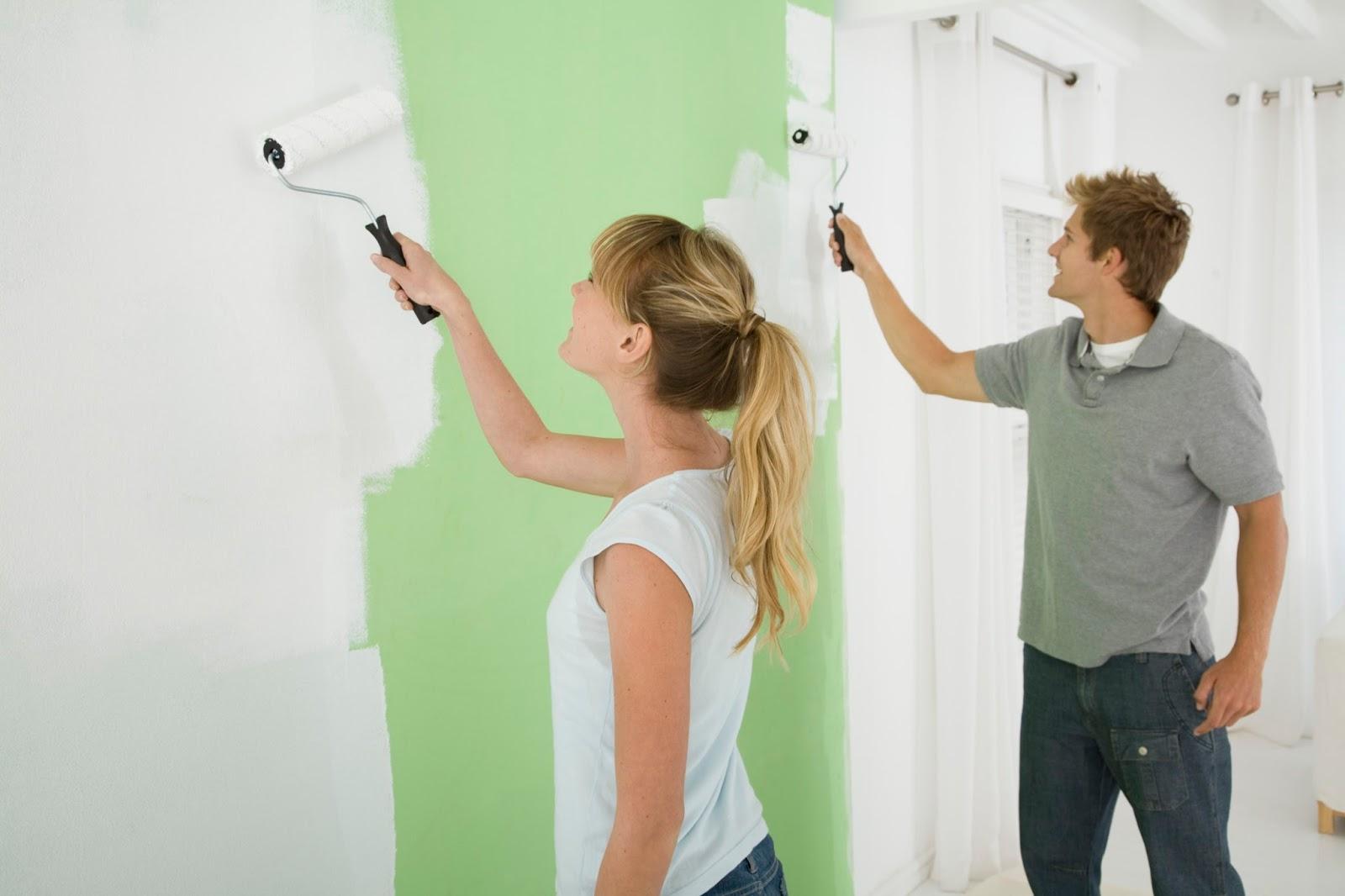 C mo pintar las paredes interiores y exteriores de su casa - Como pintar las paredes ...
