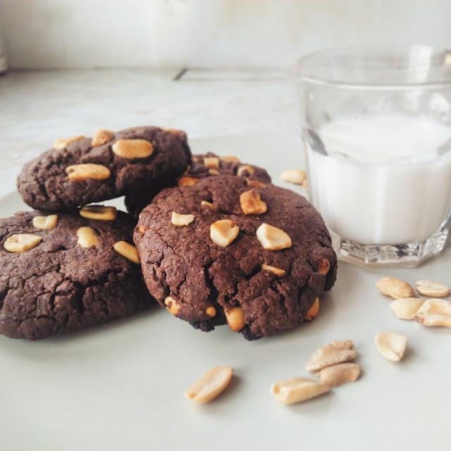 Cookies chocolat-cacahuètes végans