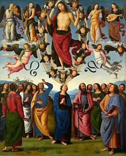 ペルジーノ、キリストの昇天、リヨン美術館