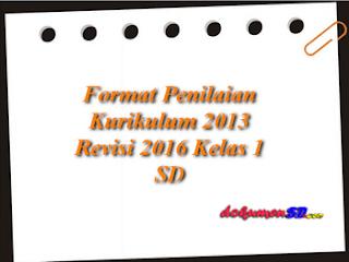 Format Penilaian Kurikulum 2013 Revisi 2016 Kelas 1 SD