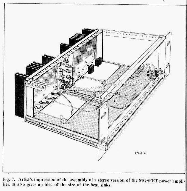 amplifier cabinet with heatsink mounting