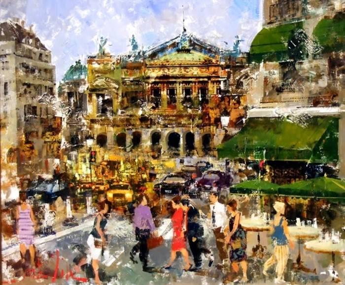 Водоворот городской жизни. Josep Costa Vila