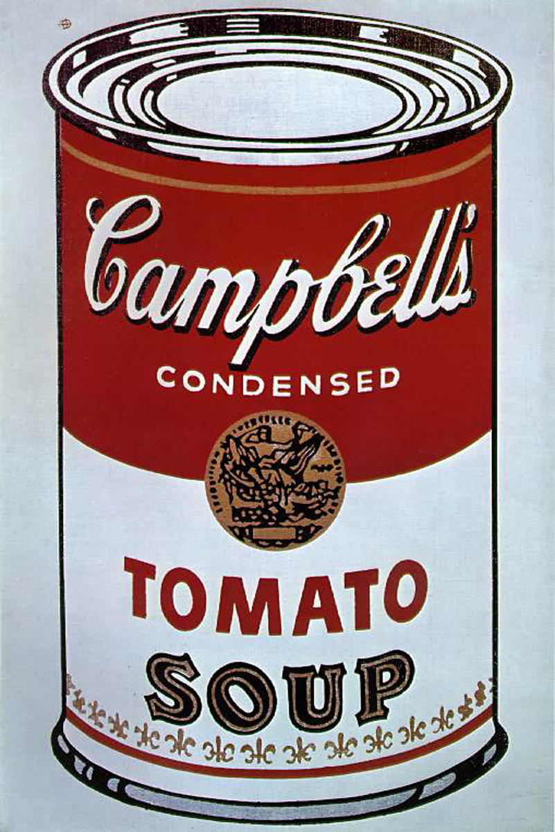 Highlights of Postmodernism: Andy Warhol-Campbell's Soup Cans