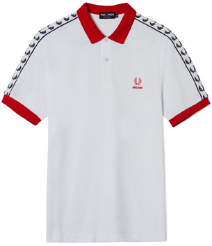 camiseta polo Inglaterra Euro 2016 Fred Perry