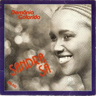 """Capa do single """"Demônio Colorido"""" que Sandra de Sá lançou em 1980"""
