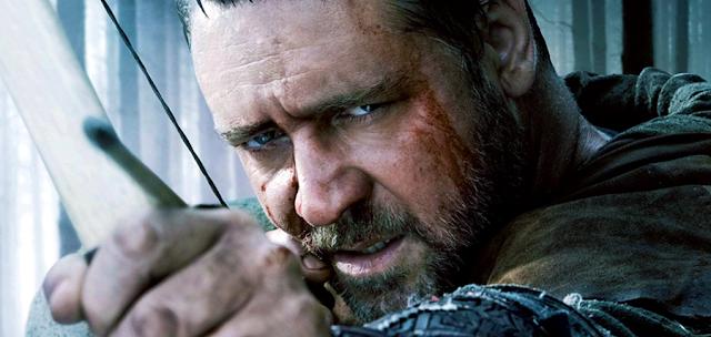 Russell Crowe în rolul lui Robin Hood din filmul regizorului Ridley Scott (2010)