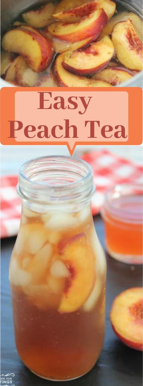 Easy Peach Tea #drink #peach
