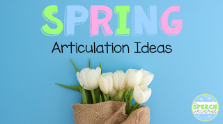 Spring articulation ideas for speech therapy sessions.