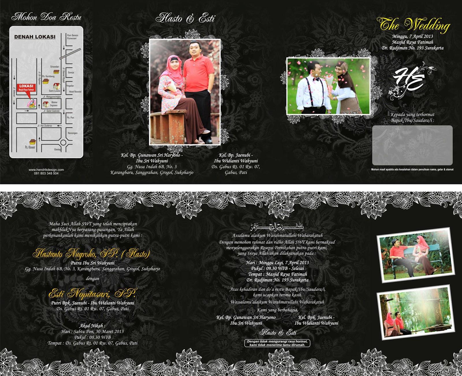 41 Gambar Contoh Desain Undangan Pernikahan Lipat 3 HD Terbaru Yang Bisa Anda Tiru