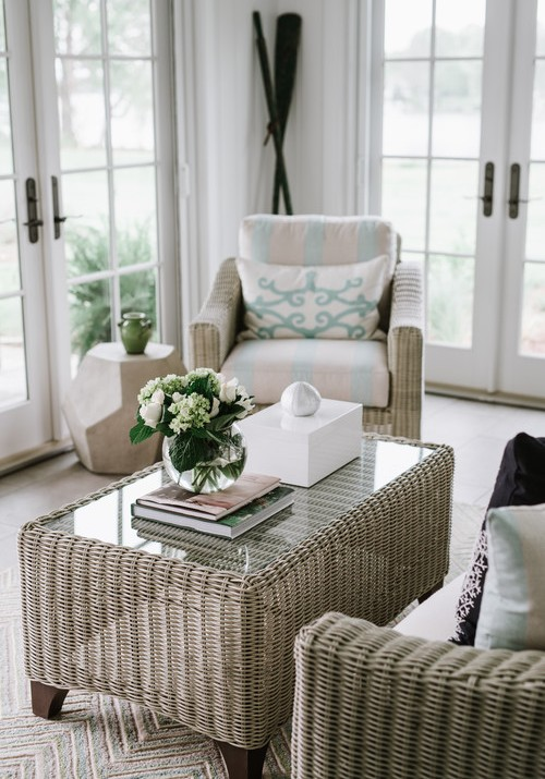 Sun Room Ideas with Gray Wicker Rattan