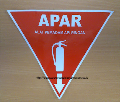 Pesan Sticker K3 Rambu APAR
