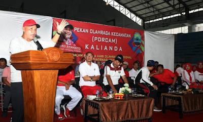 Nanang Buka Pekan Olahraga Kecamatan (Porcam) Kalianda