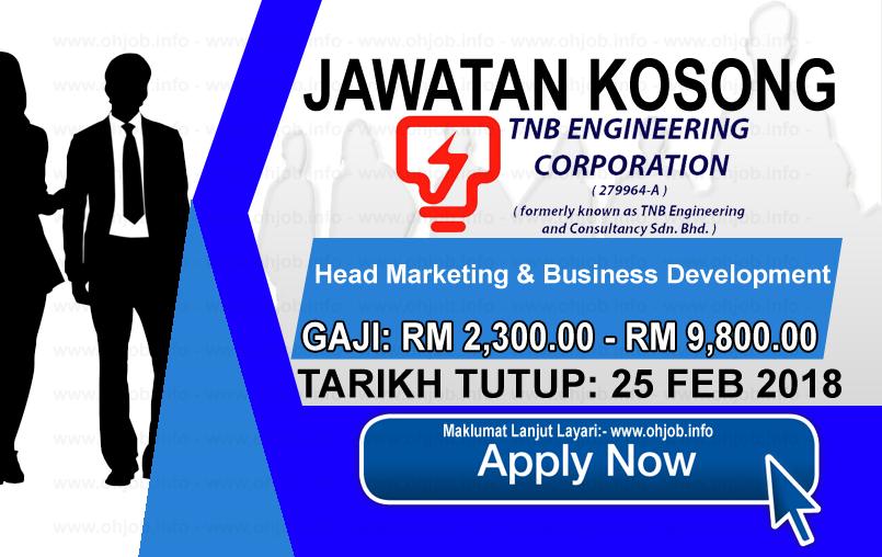 Jawatan Kerja Kosong TNB Engineering Corporation logo www.ohjob.info februari 2018