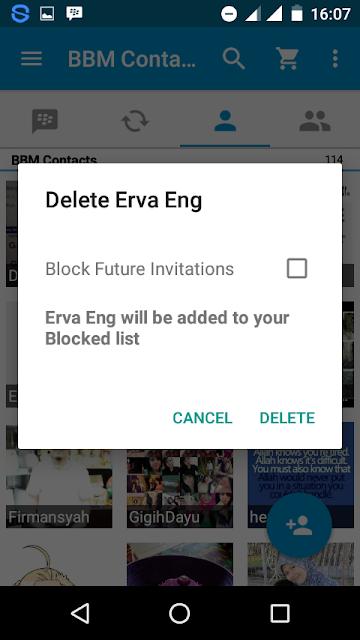 Cara Menghapus (Delete) Contact BBM 3